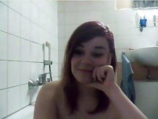 Asian bath girl taking Girl taking a bath