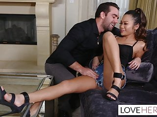 Small feet footjob - Vina skys stepbrother just loves her oily legs and feet