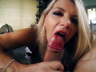 Huge cumshot video Huge cumshot on vicky vettes face - santa drops a load