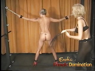 Mistress body domination Blonde slave with a hot body dominated by a kinky milf