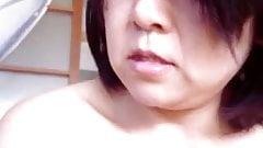 Japanese milf Jerking