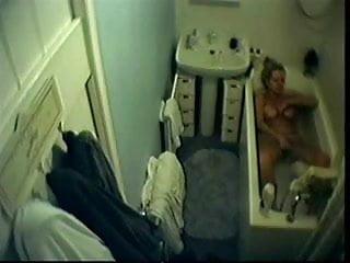 Caught milf videos - Hidden cam in bathroom caught milf in bathtube