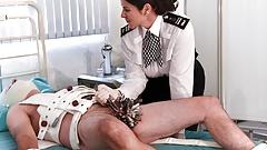 Baroness Essex Interrogates and milks Her slave