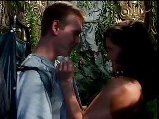 Brunette s wild sex Couple have wild sex in jungle
