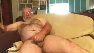 Step Dad Strokes on the Couch