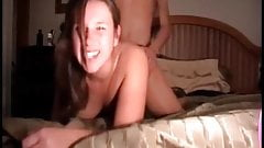 Teen couple having fun