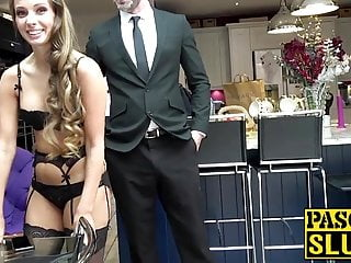 Uk sex videos free Mesmerizing uk girl gags on dick while her ass is spanked