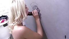 RL Blonde whore Ivory sucks and fucks glory hole