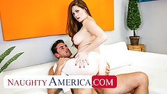 Naughty America - Personal Trainer creampie's Allison Moore