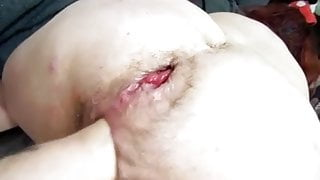 Grandpa destroys grandma's holes