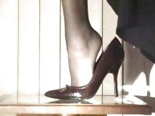 Asian girl sexy shoe Sexy shoe play