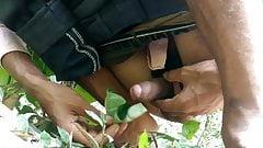 Indian village big cock masturbation and cumshot in forest