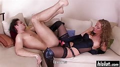 Who is this Blonde Mistress Pegging