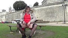 transgender travesti sounding urethral  outdoor road 6b