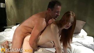 ORGASMS Hot redhead sensual penthouse fuck