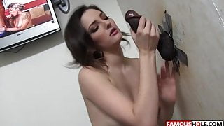 Big Black Cock For Tegan Mohr At The Famous Glory Hole