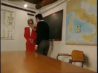 Teacher takes cock Teacher takes two cocks in classroom