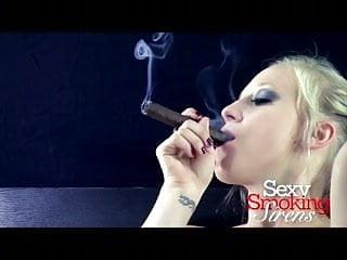 Women cigar smokers fetish Smoking fetish - callie black lingerie cigar