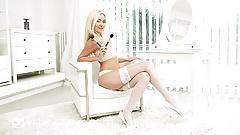 VRBangers.com - Sexy Blonde Teen Masturbating VR PORN