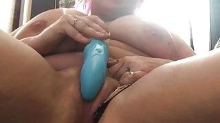 BBW Cherry Soda inserts panties and fucks herself to orgasm