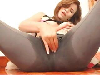 Masturbation nylons Creamy squirt 6