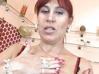 Big boobed mothers - Naughty big boobed mature mother getting wet