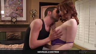 Petite Redhead Teen Violet Monroe Fucks Her Boyfriend on her