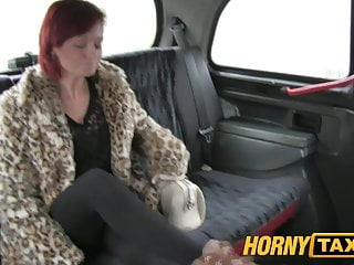 Amateur girls need extra cash - Hornytaxi shy customer gets fucked for extra cash