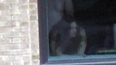 Paar beim Ficken im Hotelfenster erwischt