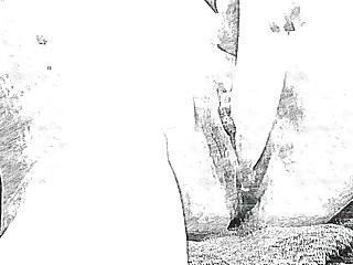 Big gay sketch - Pencil sketch up close dildo until squirt