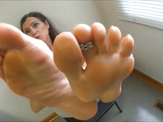 Sex stare Sexy mature caught you staring at her feet joi