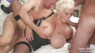 Big tits Keira Taking Two Cock