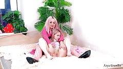 Two Lesbians. Female Domination. Sweet light Fetish BDSM