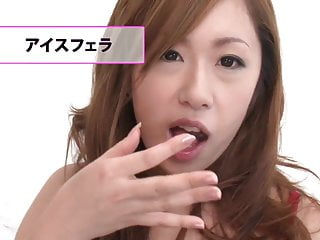 Japanese girl drinking cum Brunette cutie eats cum and drinks from a glass