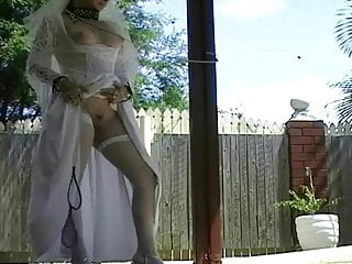 Bridal fucking video - Shelley bridal slut fucked in wedding dress