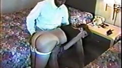 Pretty white woman encounters black dom. Cuckold BF watches