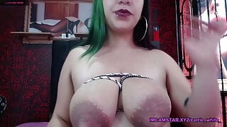 Her saggy boobs with puffy nipple