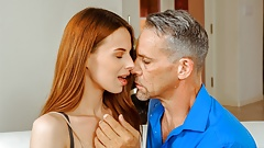 DADDY4K. Sex with BFs dad is how dazzling chick on her man