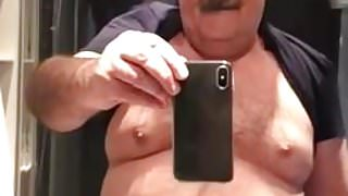 Daddy shows the goods