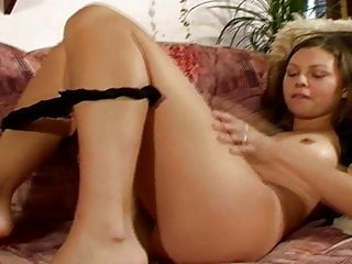 Flower orgasm Petite hairy flower masterbating on couch