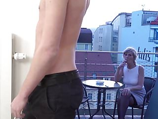 Grandma blowjob moive Horny and nasty grandma sucking her grandson friend