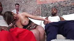 Busty mother Brooklyn creampied by blacks in front of her