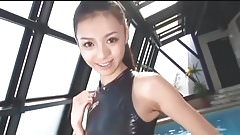 Asian Swimmsuit Speedo shiny