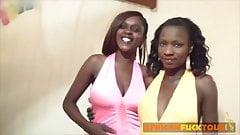 African girls pleasing their neighbor