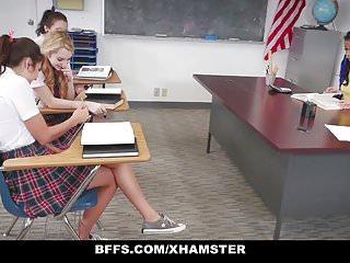 Lesbian torture male Bffs - schoolgirls torture and fuck hot teacher