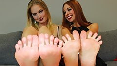 BECKY & VIKA'S Dominant JOI For The SUBMISSIVE FOOT BOY