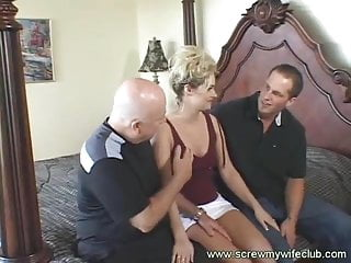 My wife got anal Hubby watched his wife got throat and anal fucked
