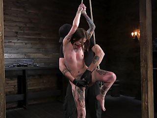 Bondage rope softener - Tiny tattoo-ed pain whore krysta kaos tormented in rope bond