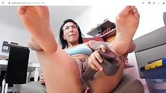 fucking my fat pussy with bad dragon dildo