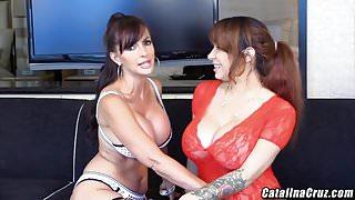 Alyssa Lynn shares hard dick LIVE on webcam Catalina Cruz